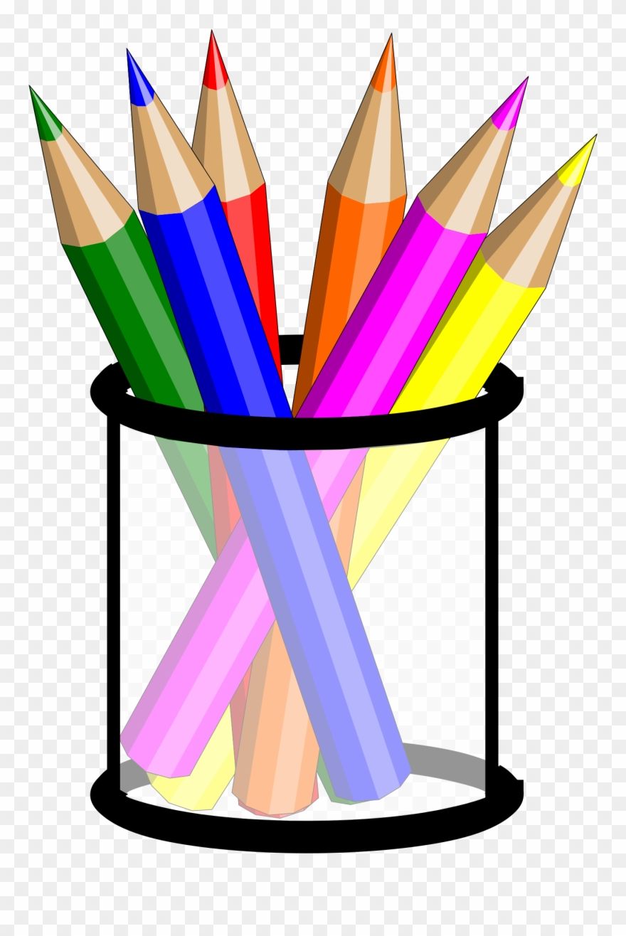 Clipart pencil colored pencil. Cup clip art coloured