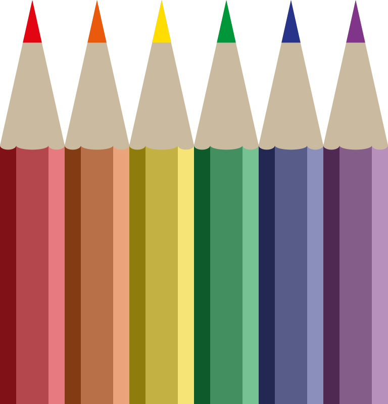 Coloured pencils medium image. Clipart pencil coloring
