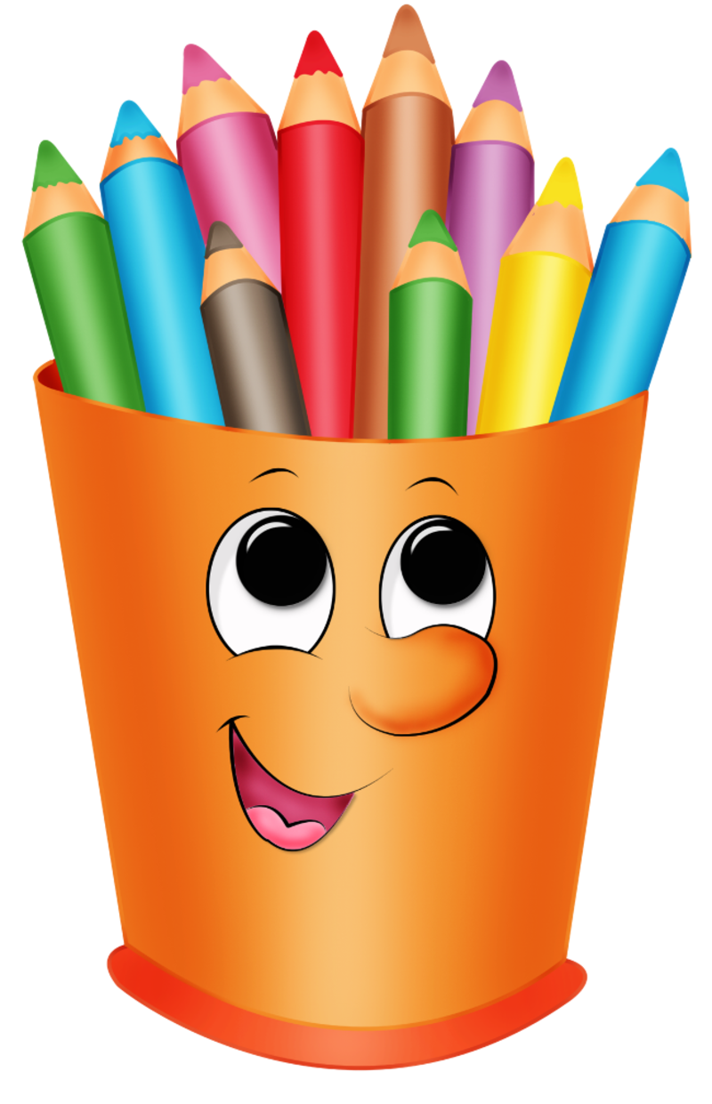 Colored crayon book clip. Clipart pencil coloring