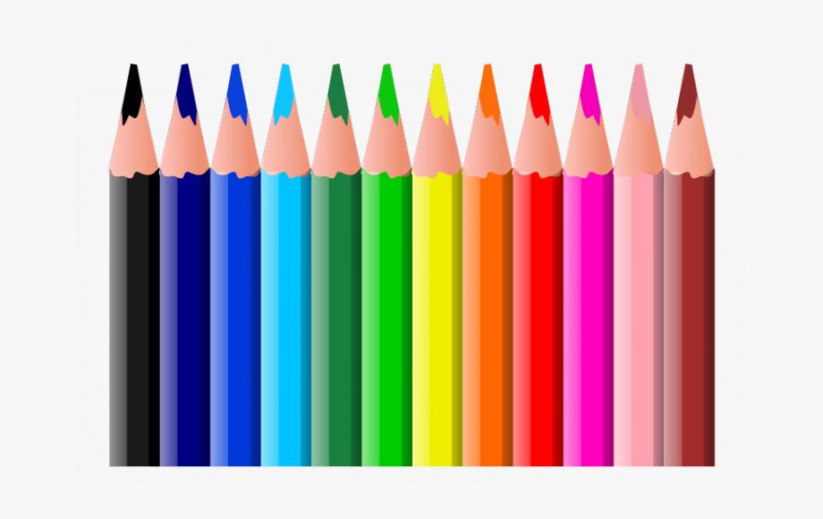 Pencil clipart colouring pencil. Coloring pencils kids shower