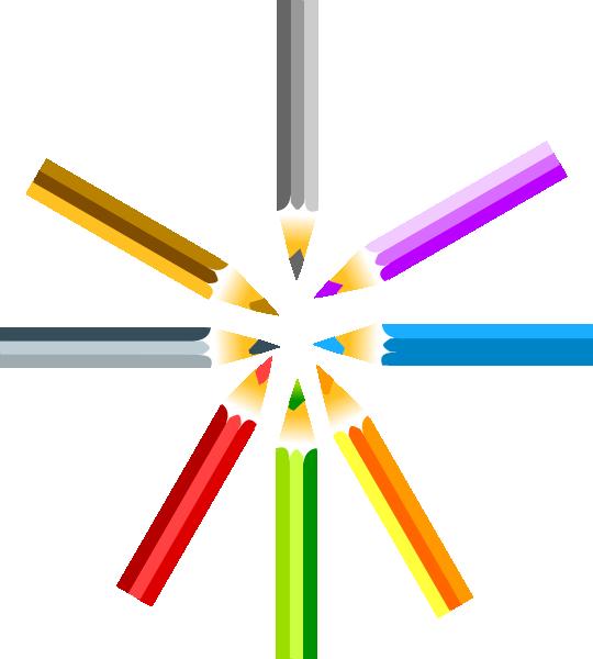 Crayon clipart horizontal. Colored pencils clip art