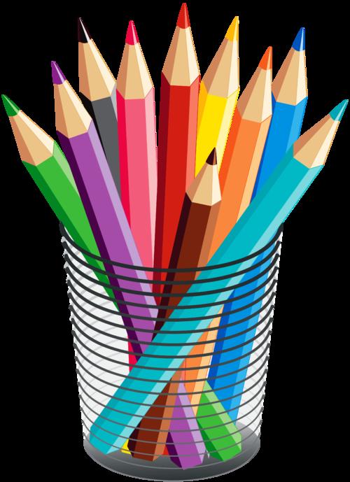 Tubes ambiances d co. Paintbrush clipart colored pencil