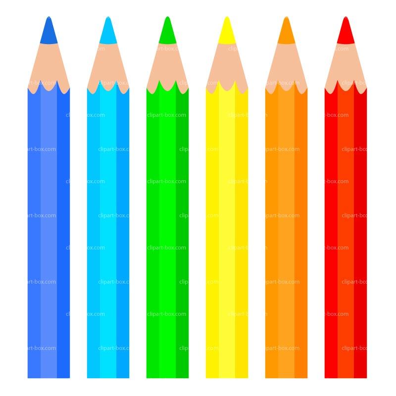 Pencils clipart fence. Colour pencil station