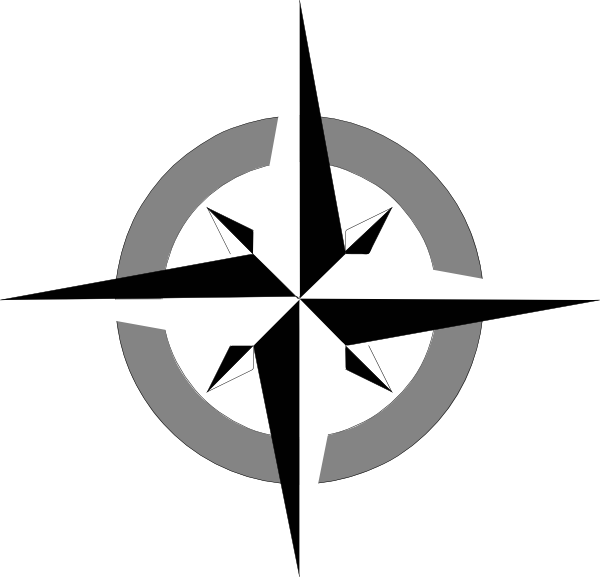 compass clipart black and white