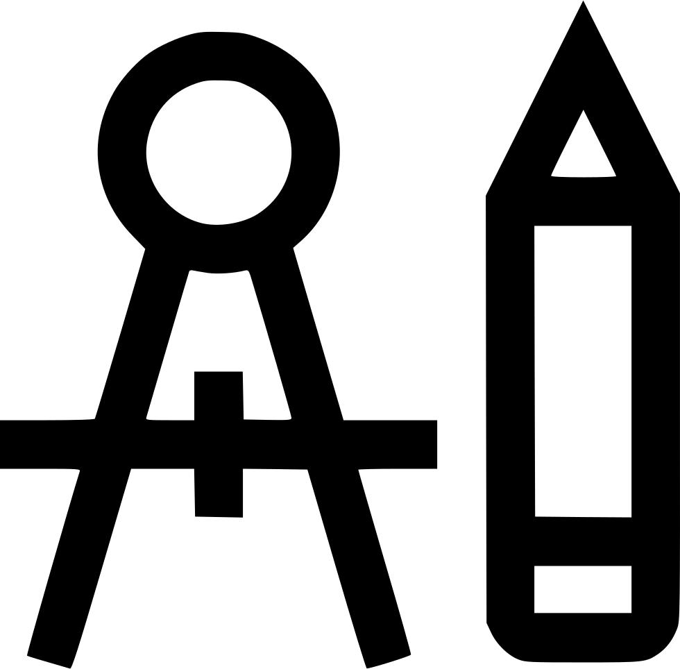 Pen graphic design shape. Clipart pencil compass