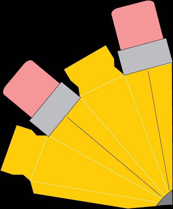 Caja en forma de. Clipart pencil container
