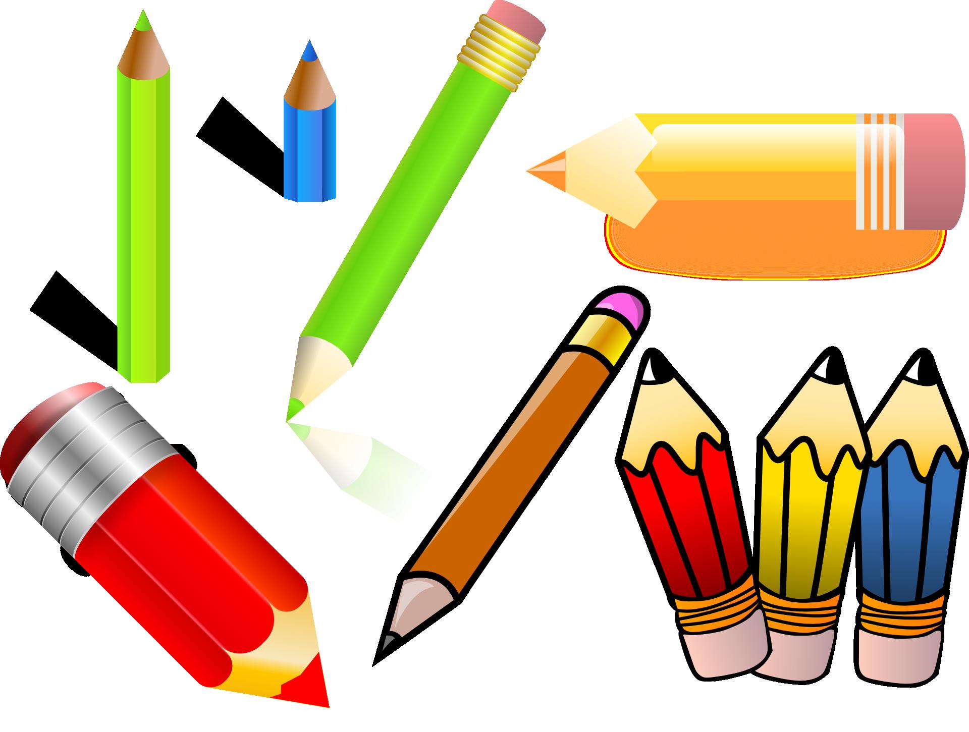 Clipart writing crayon. Pencil drawing clip art