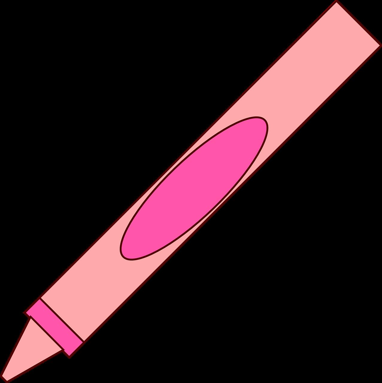 Crayons clipart face. Crayon pink pencil and