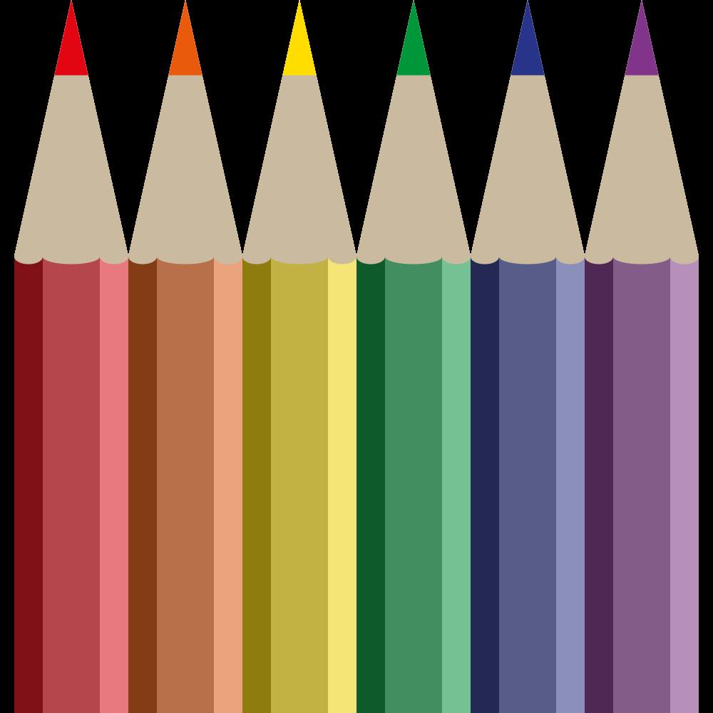 Crayons clipart label. Onlinelabels clip art coloured
