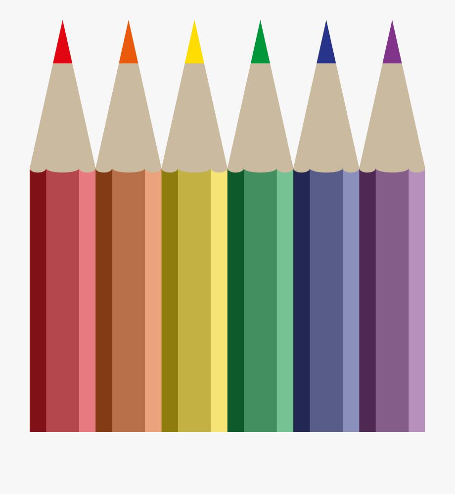 Crayon clipart colored pencil. Crayons transparent row color
