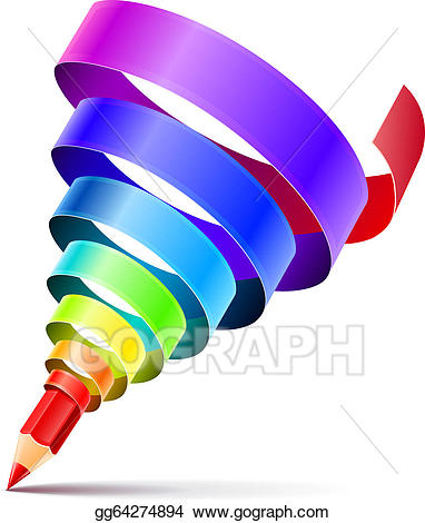 Pencil clipart creative. Vector art design concept