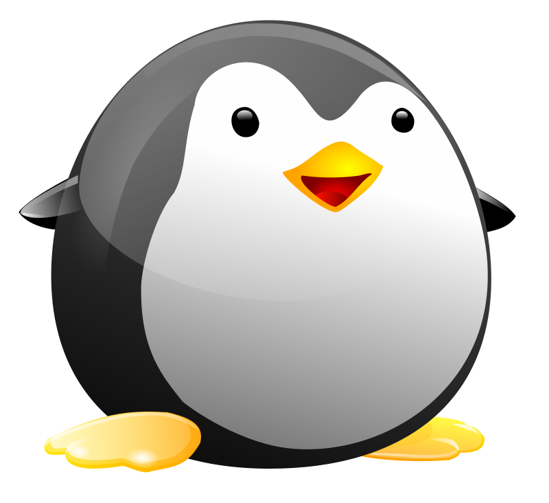 Brds penguin and in. Clipart pencil cute