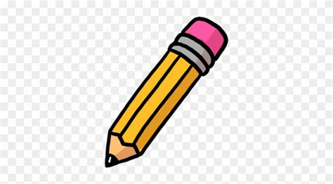Writing with large and. Clipart pencil education