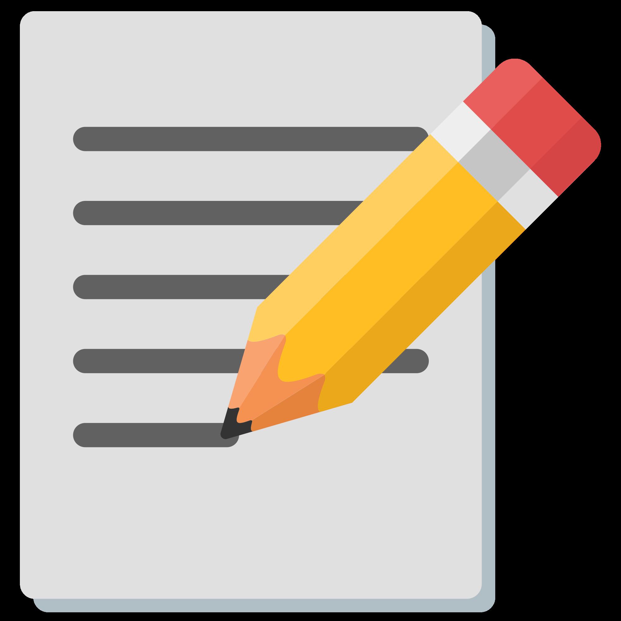 Clipart writing paper and pencil. File emoji u f