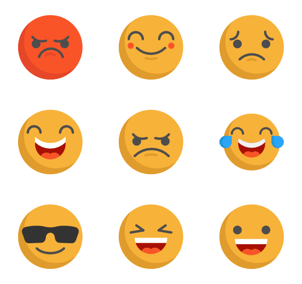 icon packs vector. Emotions clipart emoji