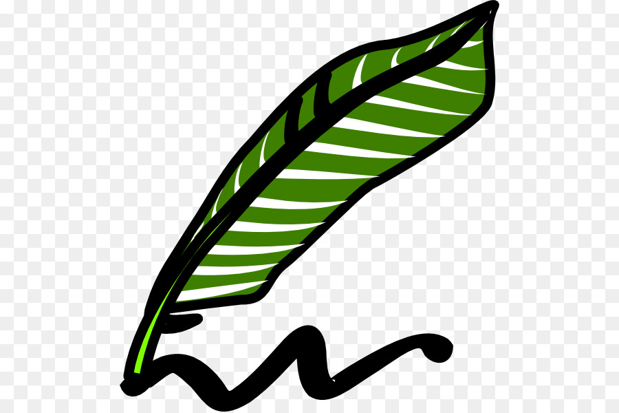 Feather clipart pencil. Green leaf background