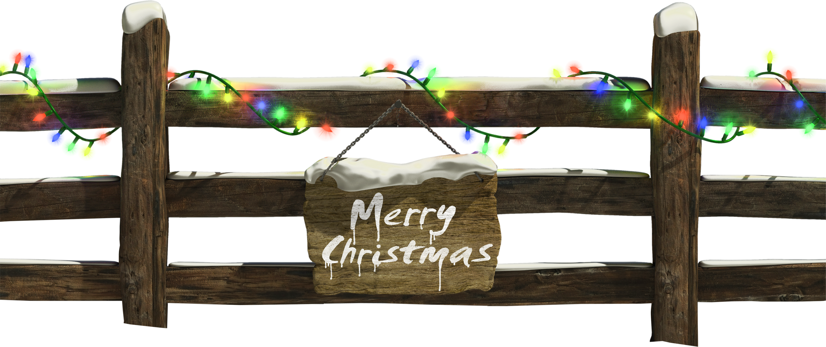 Christmas with lights gallery. Fence clipart winter