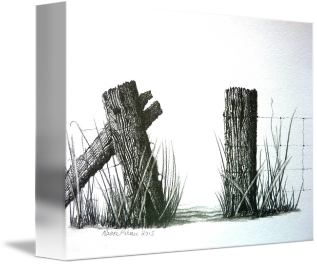 Farm drawing t churl. Fence clipart electric fence