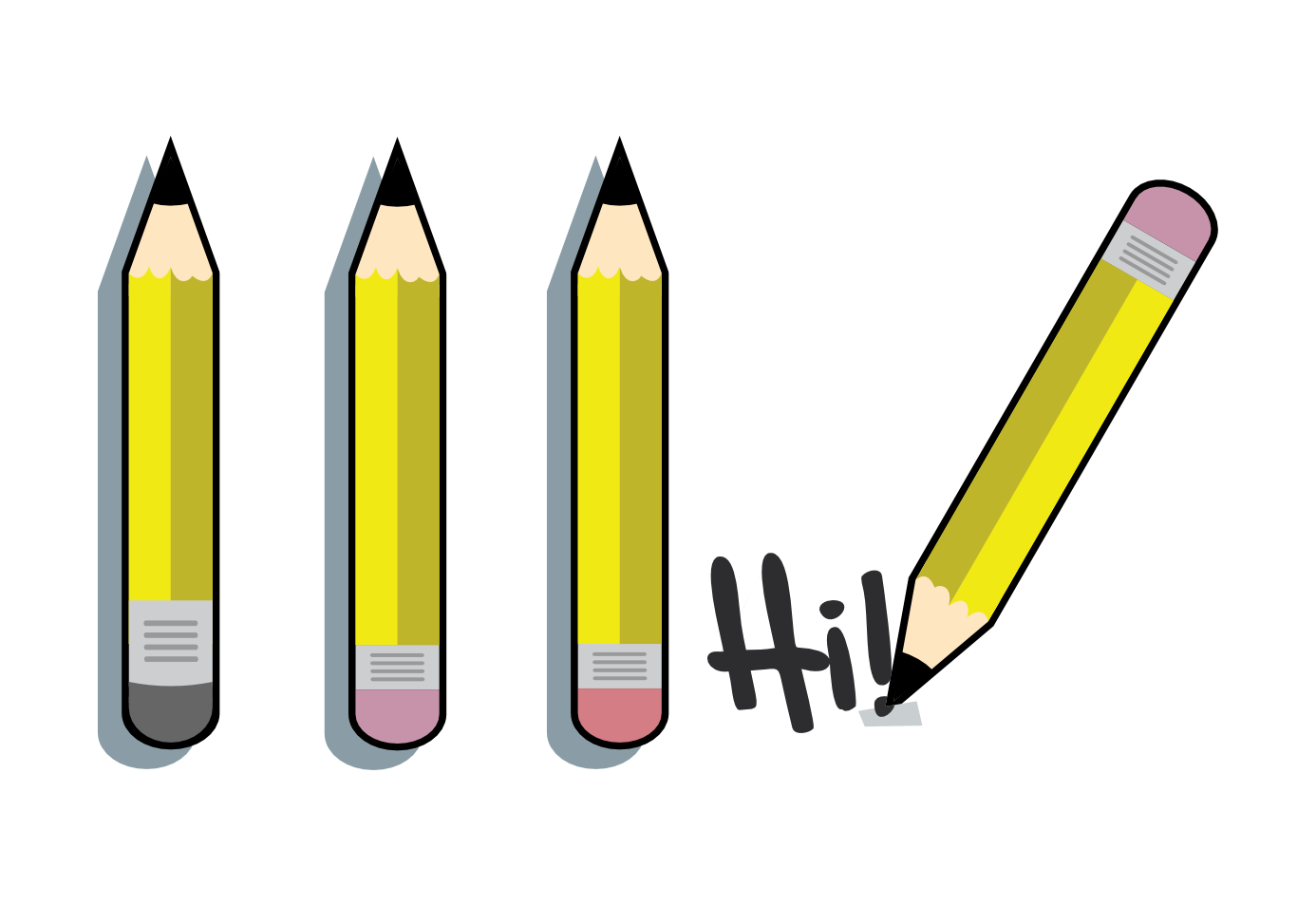 clip art pencils. Clipart pencil four