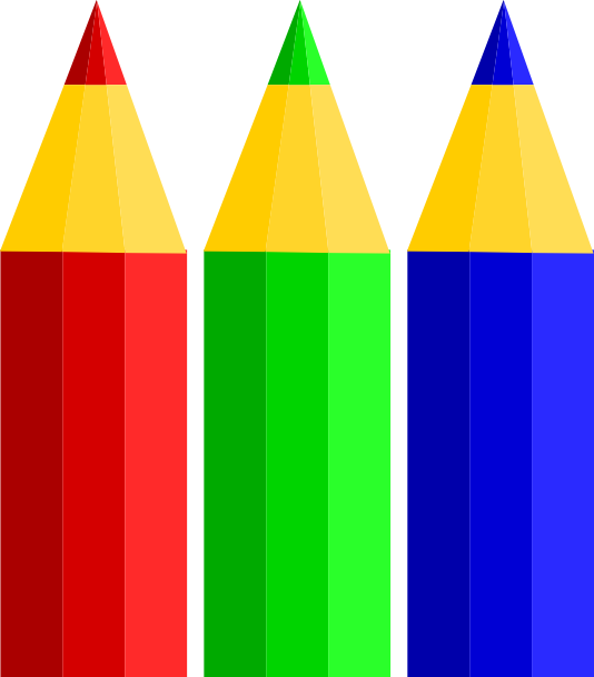 Color pencils clip art. Clipart pencil four