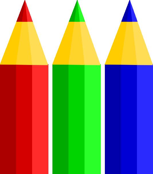 Paintbrush clipart 3 pencil. Color pencils clip art