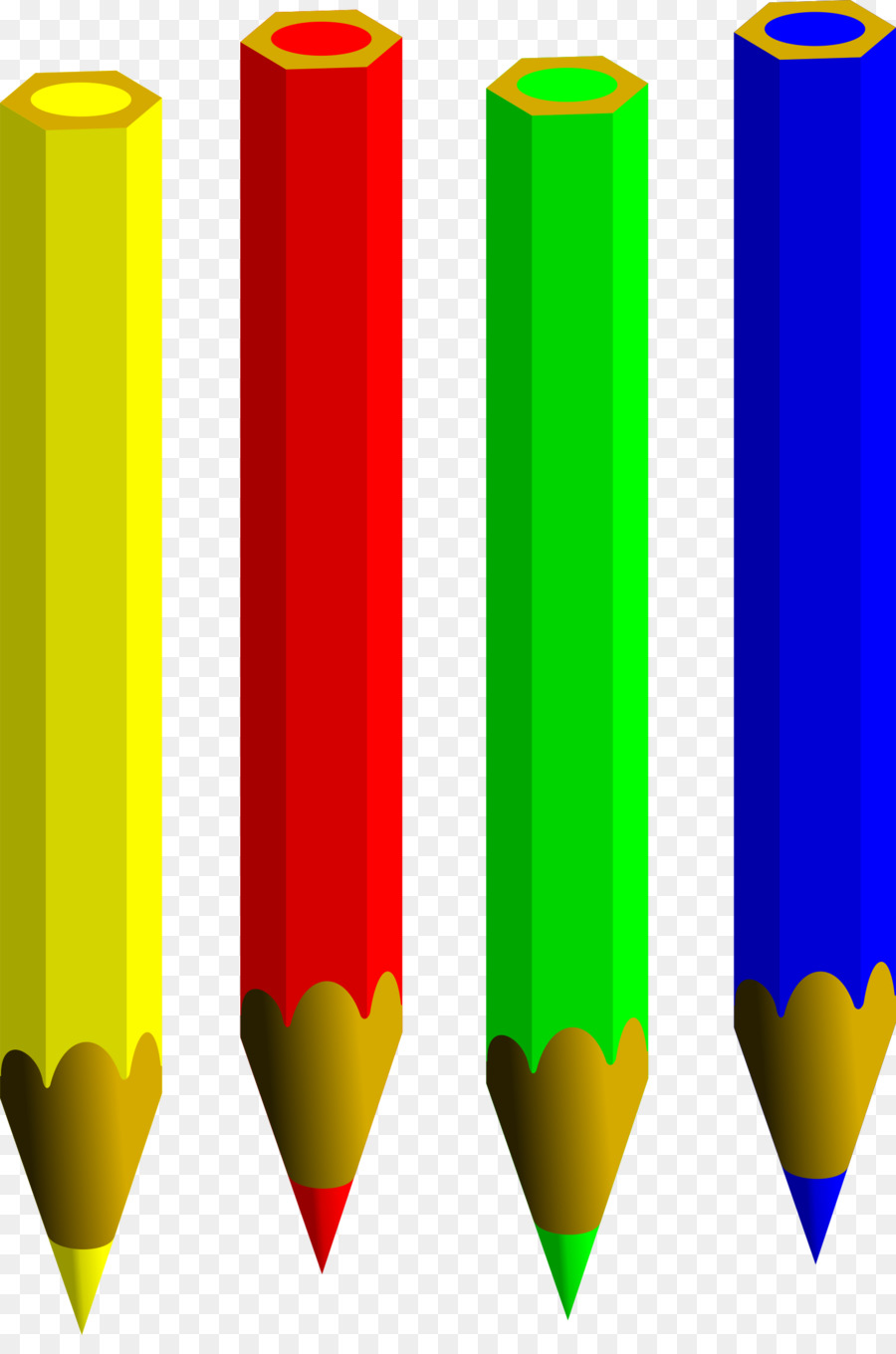 Clipart pencil four. Cartoon crayon transparent clip
