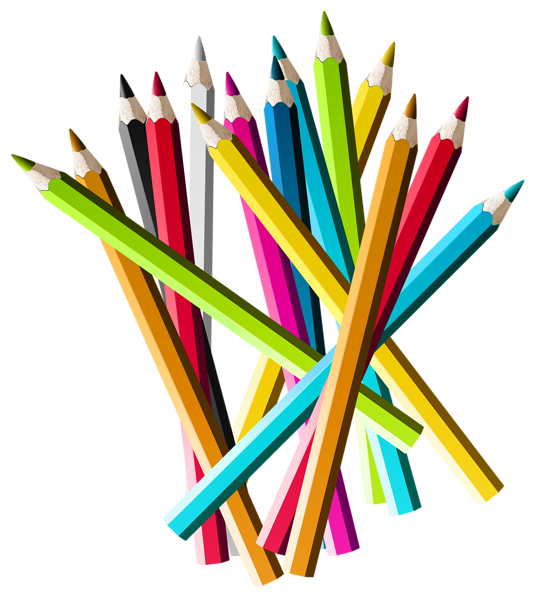 Colorful pencils png picture. Crafts clipart pencil cup