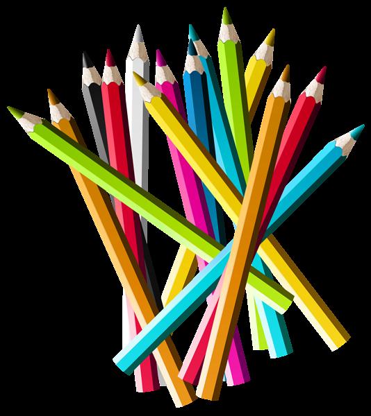 Colorful pencils png picture. Kid clipart pencil