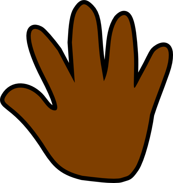Handprint clipart paint. Brown crayon pencil and