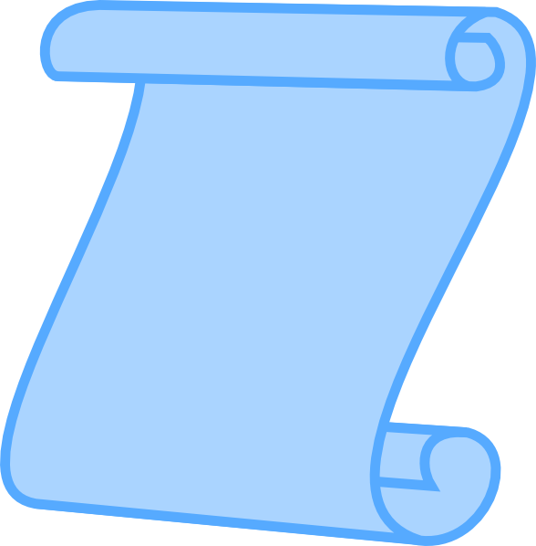 Scroll clipart small scroll. Horizontal pencil and in