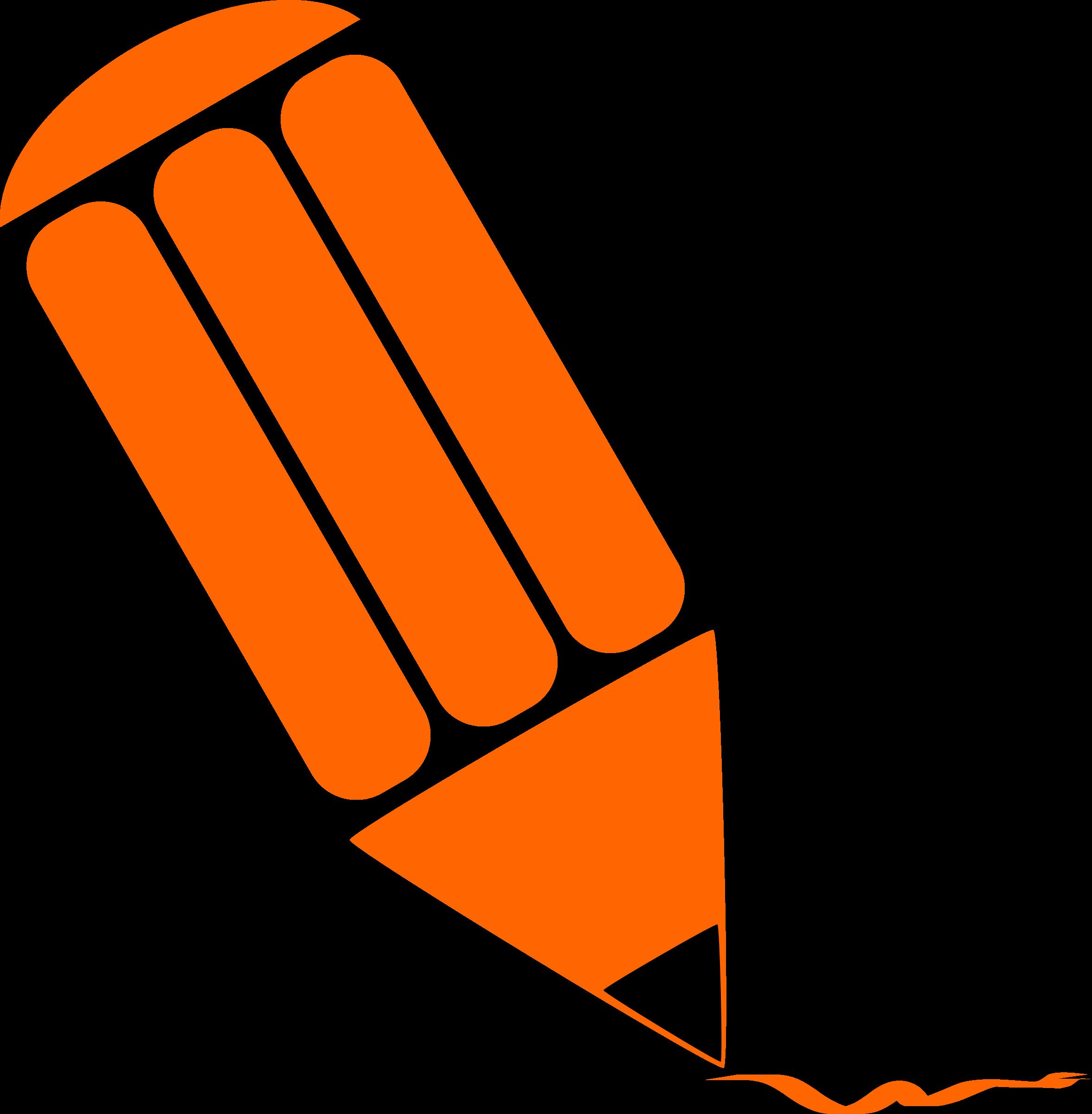 Clipart pencil logo.  collection of orange