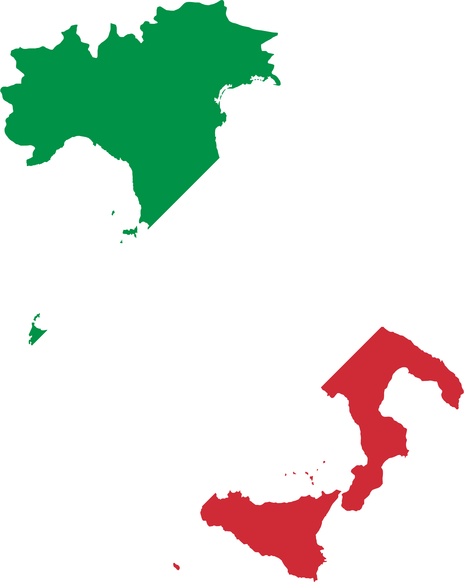 Italy and in color. Clipart pencil map