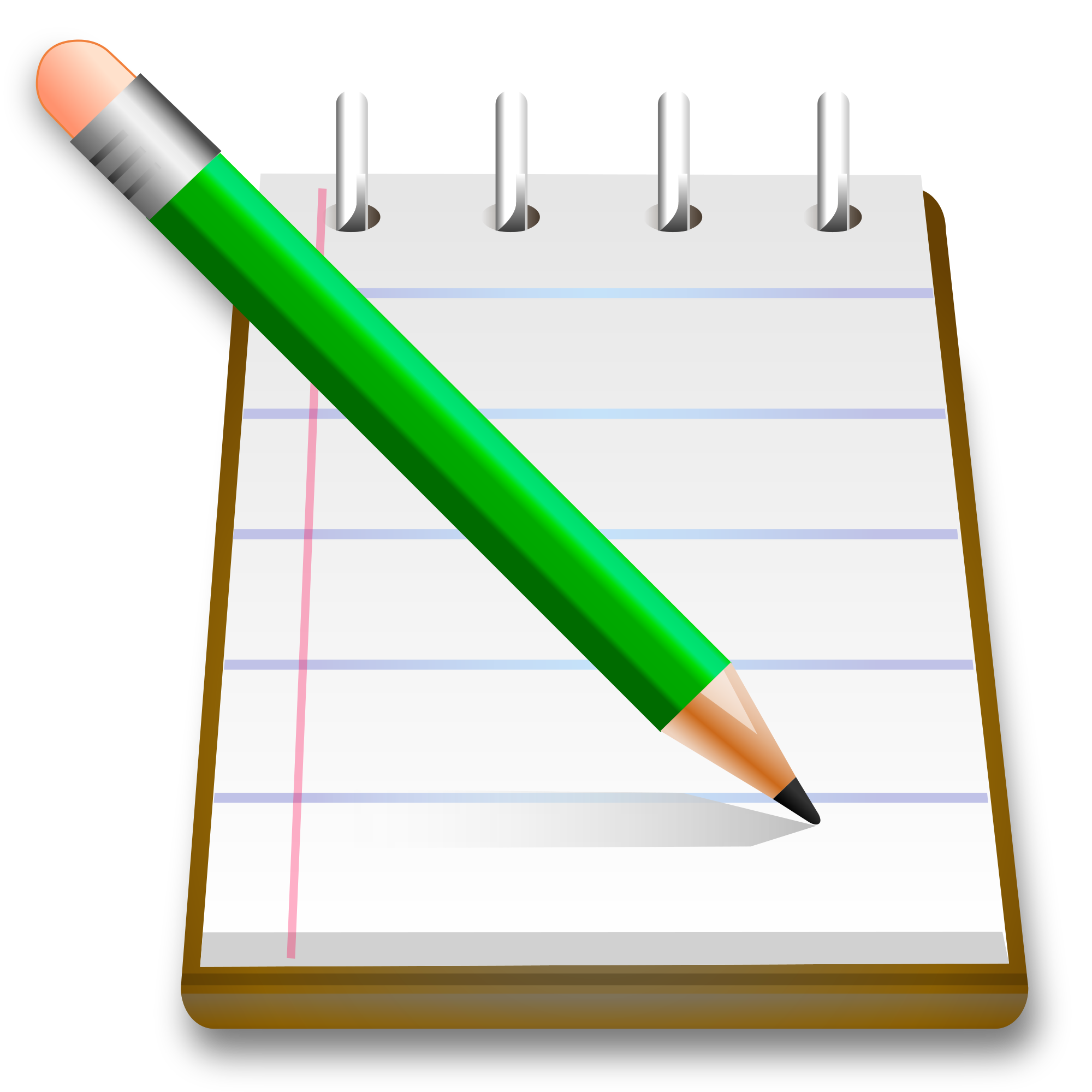 Notebook clipart pencil. File crystal clear app