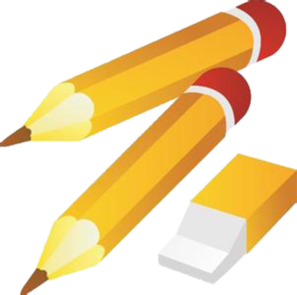 Eraser and transprent png. Notebook clipart pencil