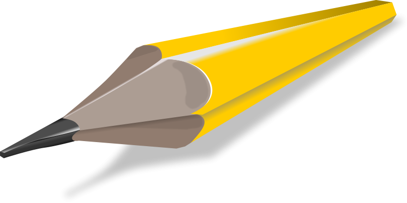 Free stock photo illustration. Clipart pencil pad