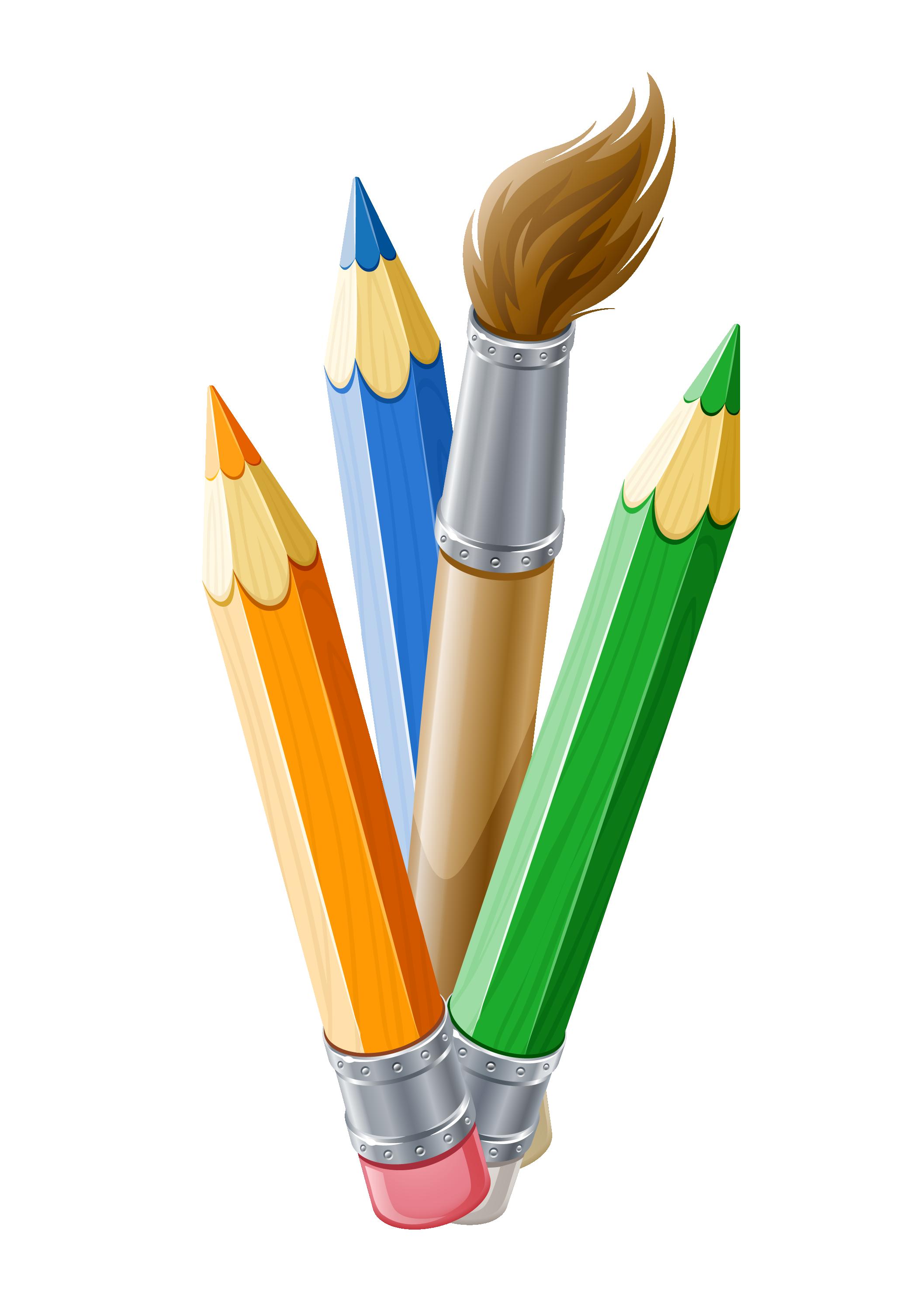 Paint brush pen free. Pencil clipart paintbrush