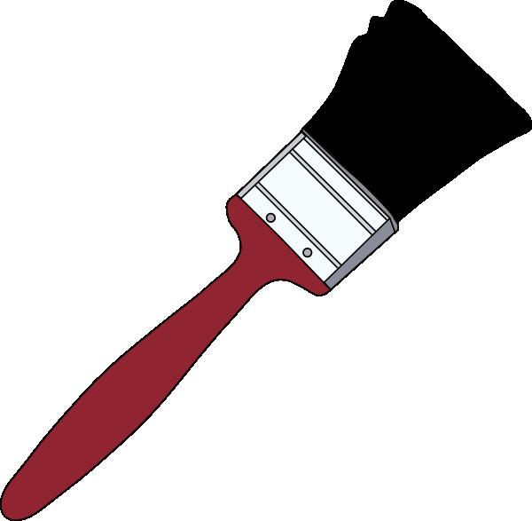 Paintbrush clipart artwork. Tom red clip art