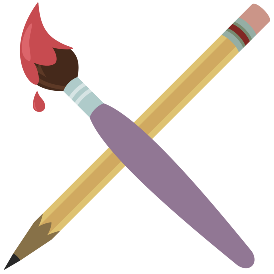 pencil clipart paintbrush