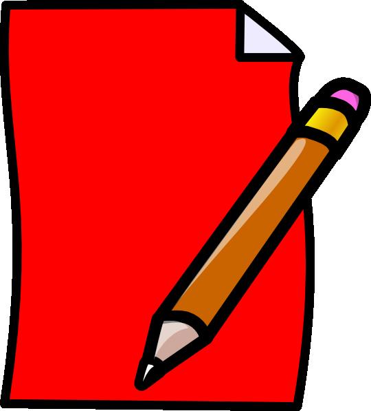 Clipart pencil paper. Clip art at clker