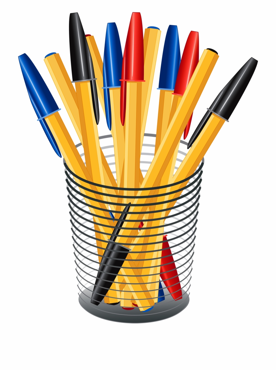 Clipart pencil pen. Pens with a transparent