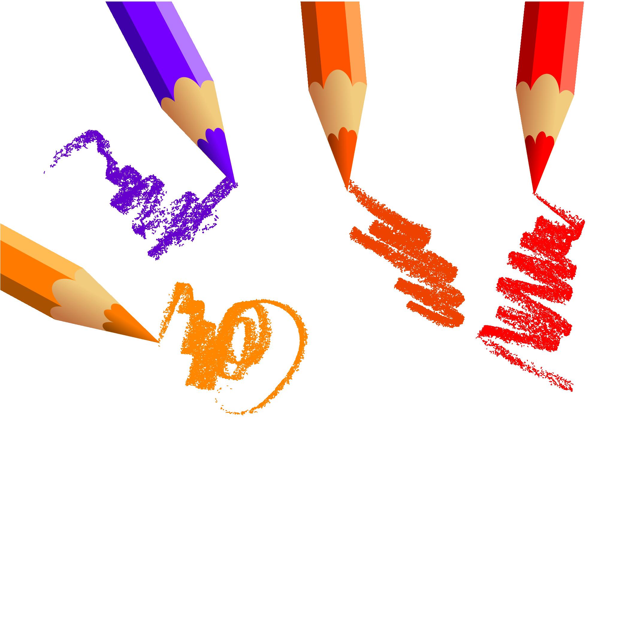 Pencil clipart colouring pencil. Colored drawing creative color