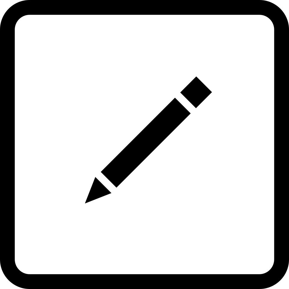 Edition interface symbol button. Clipart shapes pencil