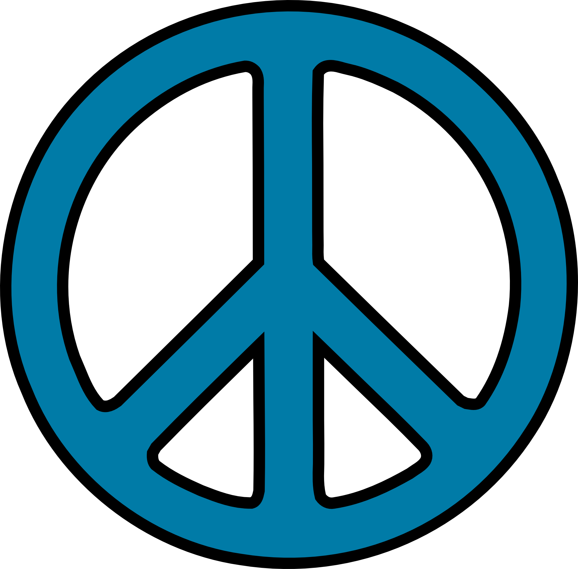 Clipart pencil sign. Peace and in color