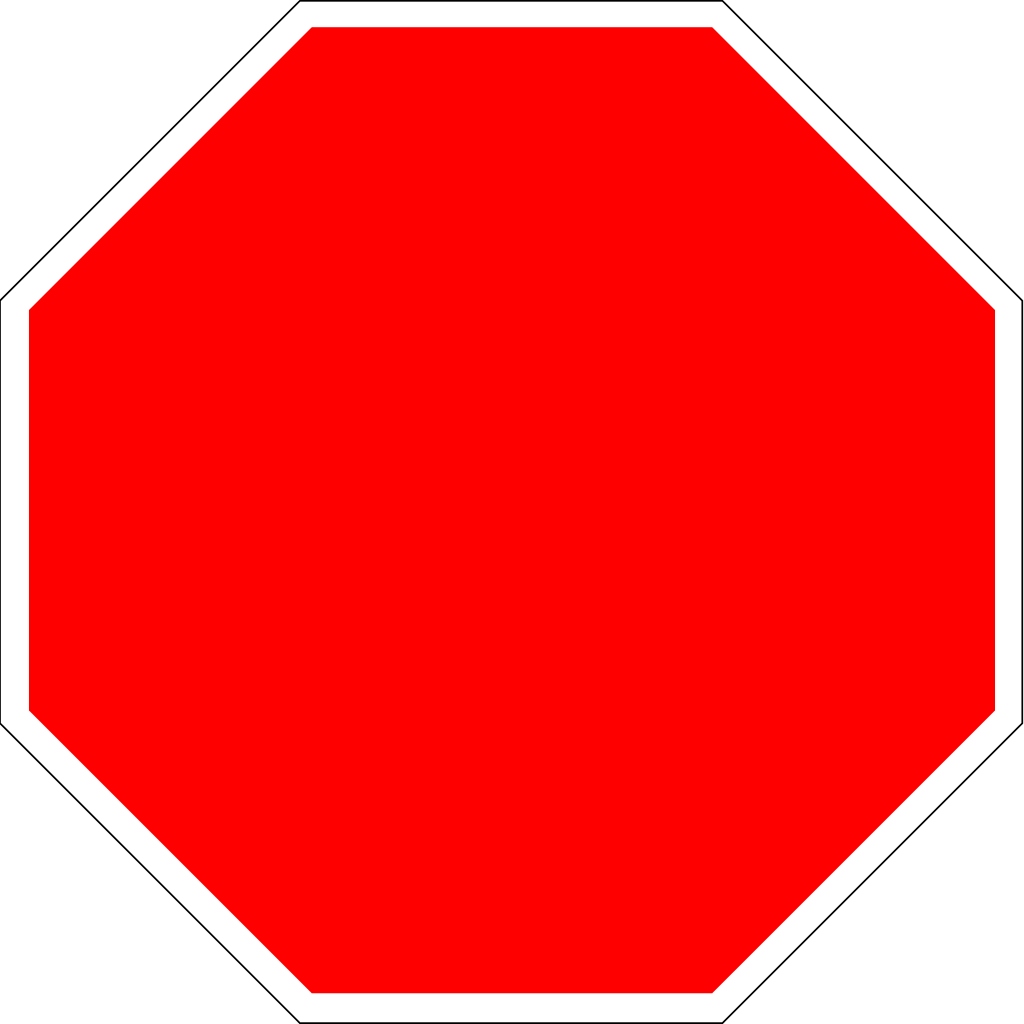 Stop sign jokingart com. Square clipart red color