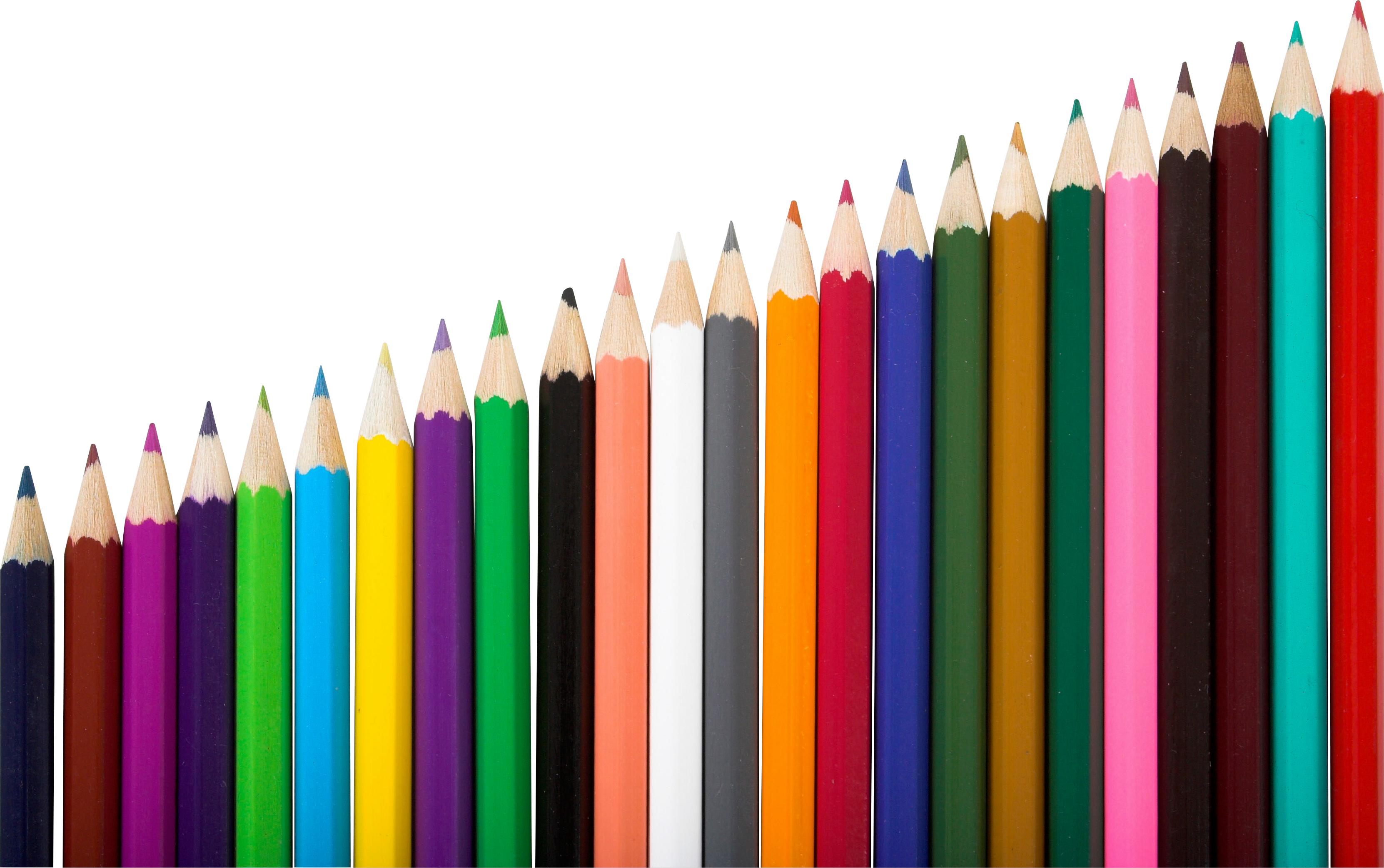 Crayons clipart colored pencil. Pencils six isolated stock