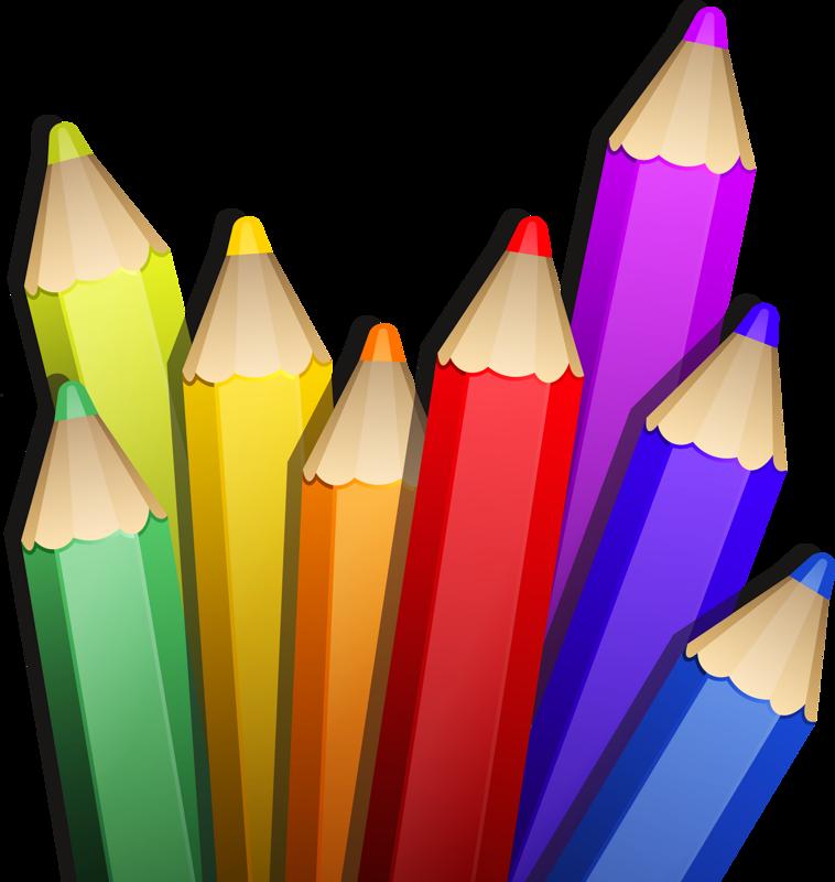 png pinterest clip. Paintbrush clipart colored pencil