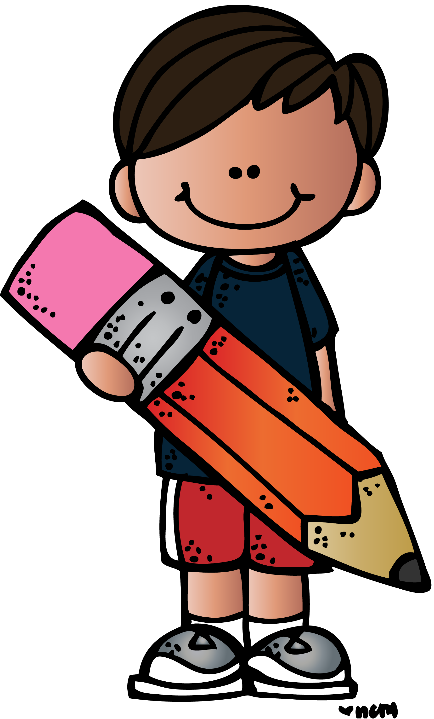 Pencils clipart student.  collection of melonheadz