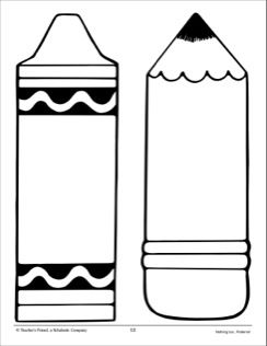 Free Crayon Black And White Clip Art with No Background - ClipartKey