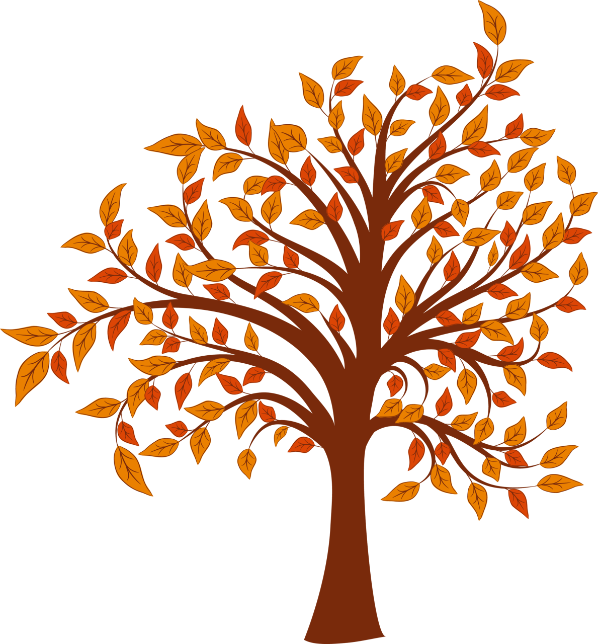 Tree clipart september. Of autumn fall pencil