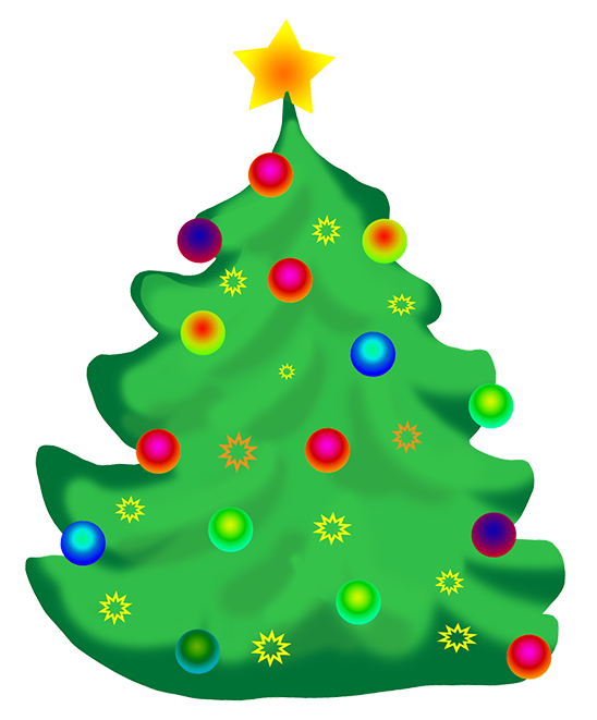 Clip art decorated . December clipart christmas tree